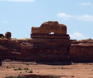 Sandstone formation on the road to the Needles District in the southeast corner of Canyonlands National Park
